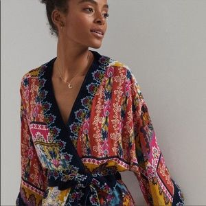 NEW! Anthropologie Patterned Robe